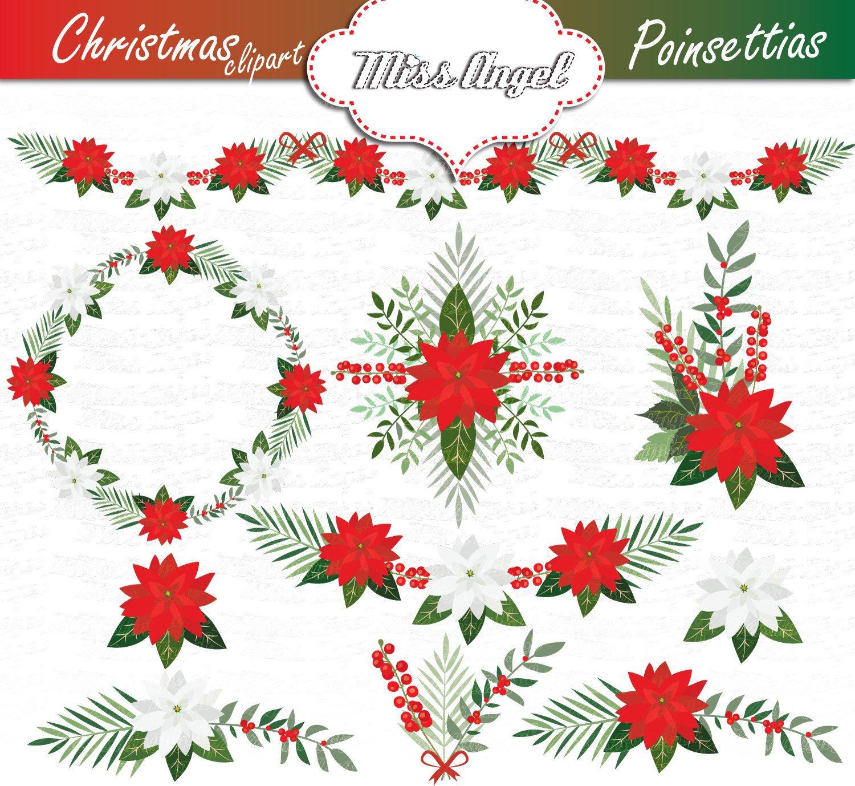 Weihnachten weihnachtsstern Clipart. Weihnachten Kranz | Etsy