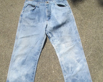 49ac9a2b510f Men's VF Jeanswear bleached Jeans Up-cycled size 36/32