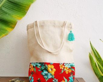 Tropical gift bags destination wedding beach   custom totes hawaiian style    jute tote bag   weddings cancun mexico d6fe2e845f
