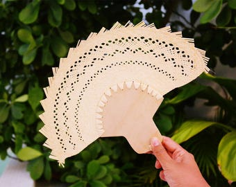 Palm personalized hand fans / wooden fan / traditional mexican wedding favors / custom hand fans wedding