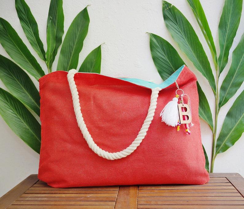 Customizable tote / custom beach tote bags / welcome gift bag image 0