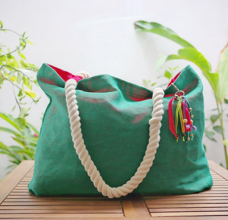 Sacolas de praia personalizadas / sacola de juta / playa del carmen Etsy