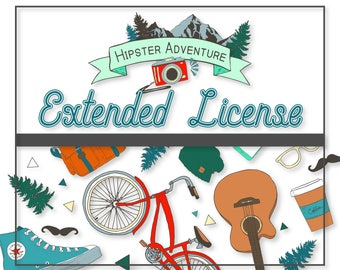 EXTENDED LICENSE for Hipster Adventure Graphics Pack
