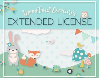 EXTENDED LICENSE for Woodland Creatures Graphics Pack