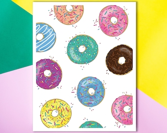 For the Love of Donuts Wall Art Print