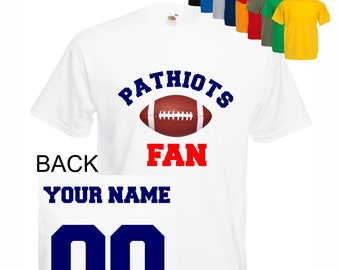 75289849179 Patriots shirt kid tee shirt men shirt lady Baby sport customized  personalized name number Child boy Clothing Kid s Shower boy shirt t-shirt