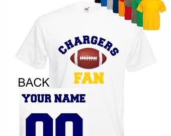 8f007c9fe Chargers shirt kid tee shirt men shirt lady Baby sport customized  personalized name number Child boy Clothing Kid s Shower boy shirt t-shirt