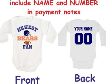factory price 10f03 af113 Chicago bears baby | Etsy