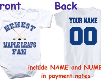 ffc6ebbec Baby bodysuit Newest fan Maple Leafs customized personalized NAME NUMBER  One Piece Bodysuit Funny Baby Child boy Clothing Kid s Shower boy