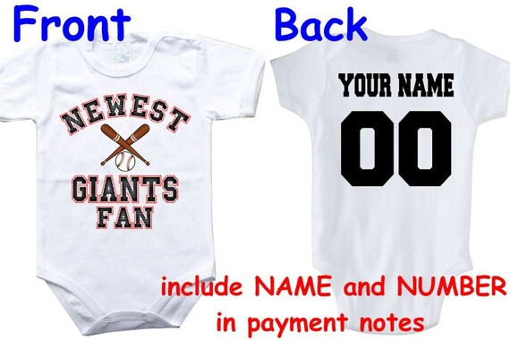 Baby bodysuit Newest fan Giants customized personalized NAME  d5ebc845c