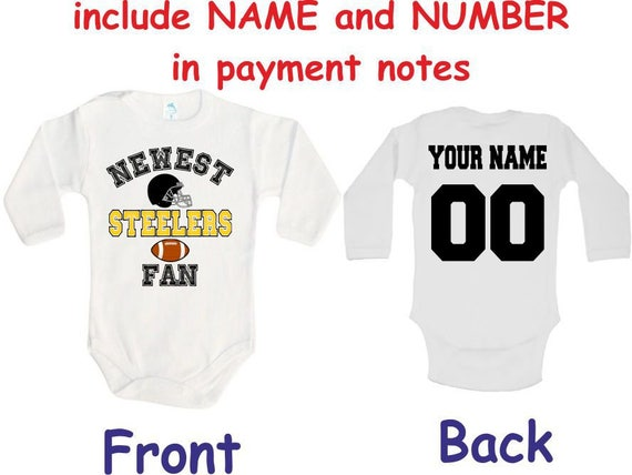 Steelers Baby bodysuit Newest fan customized personalized NAME  5965c7944