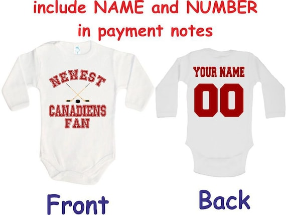 Canadiens Baby bodysuit Newest fan customized personalized  5bfd2f387