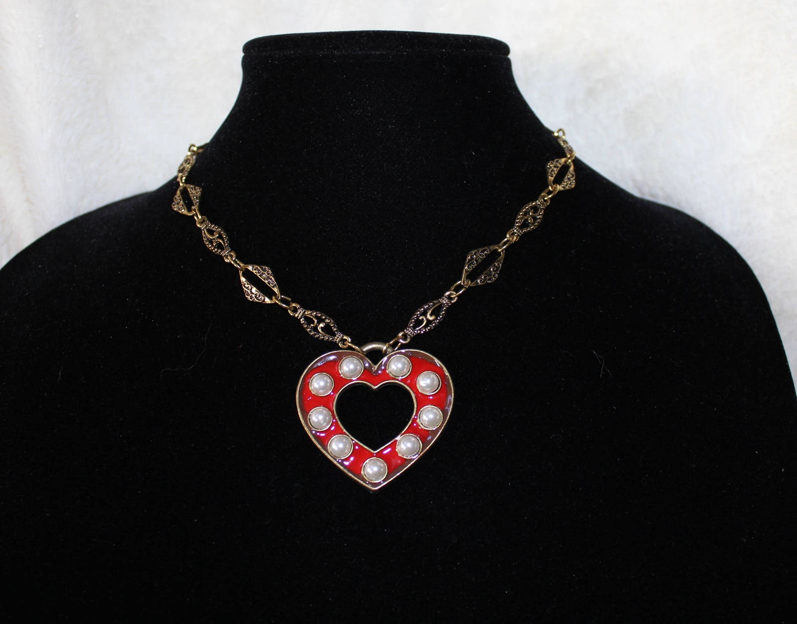 Brass Hearts and Pearls