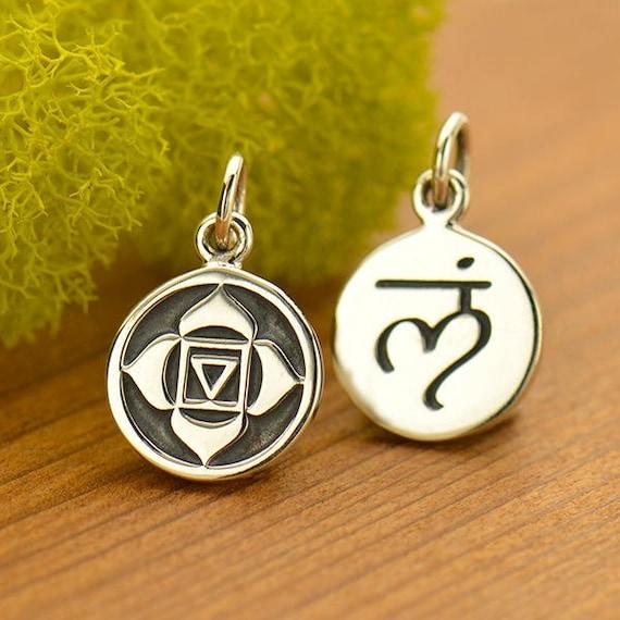 Root Chakra Charm Sterling Silver Root Chakra Symbol Charm Etsy