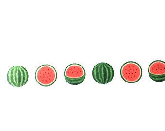Watermelon Washi Tape, Washi Tape, Planner Washi, Planner Tape, Scrapbook Supplies, Paper Tape