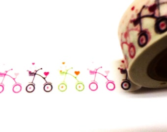 Tricycle Washi Tape, Washi Tape, Planner Washi, Tricycles, Planner Tape, Scrapbook Supplies, Kids Washi, Paper Tape, Party Decorations