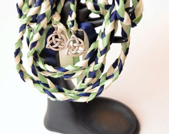 Celtic Triquetra  Wedding Handfasting Cord ~  Navy Sage Theme  ~ Celtic Handfasting ~ Wedding Ceremony