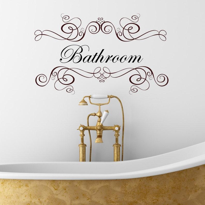 Wall Art Bathroom Wall Quote Wall Tattoo Wall Decor Wall Quote Decals Wall Decals Home Decor Bathroom -
