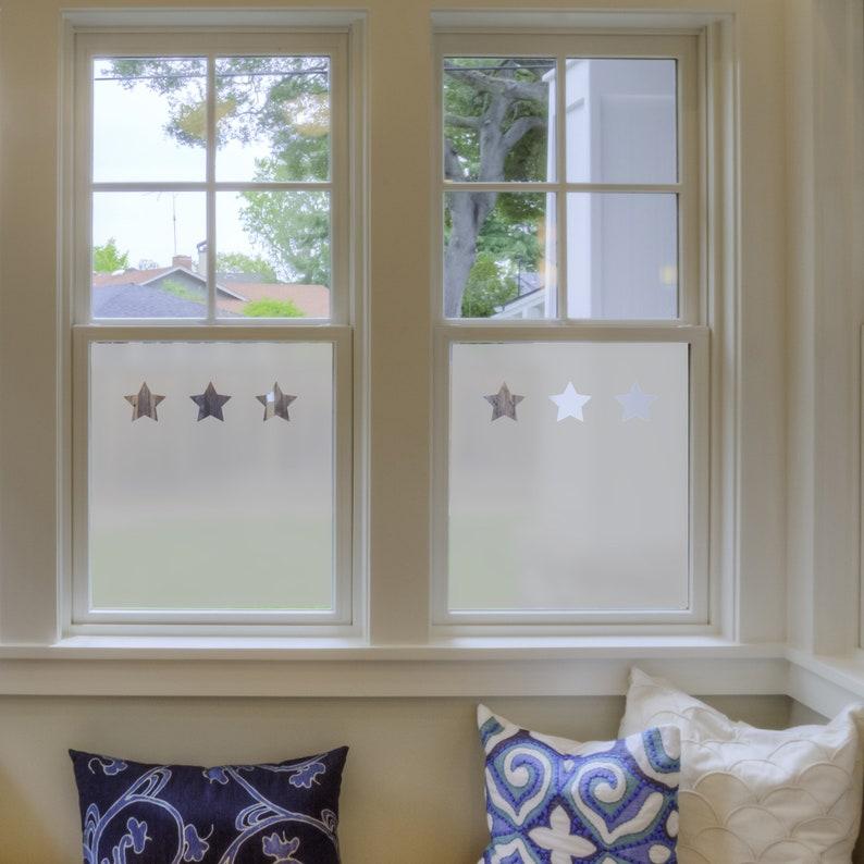 Beau Frosted Window Film Stars Bathroom Windows Vinyl For | Etsy