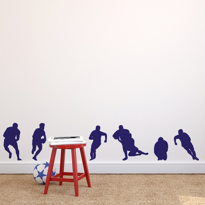 Wall Tattoo Wall Stickers Wall Stickers Rugby Nutmeg Wall Stickers Sports Decal Rugby Wall Decor