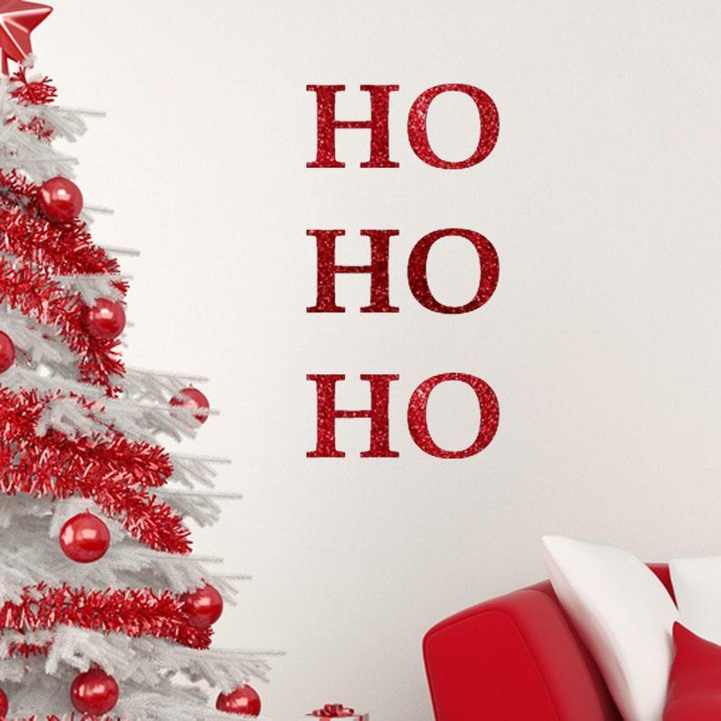 Wall Decor Decals Santa Home Decor Wall Decals Wall Tattoo Ho Ho Ho Glitter Wall Quote Christmas Wall Art Wall Quote