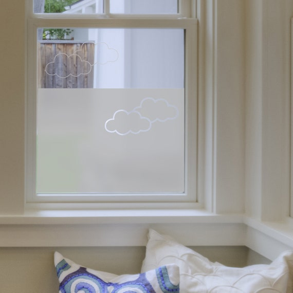 Frosted Window Film Clouds Bathroom Windows Vinyl For Etsy