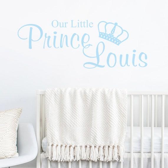 Princess//Prince Personalised Custom Name Wall Stickers Decal Kids Nursery Decor