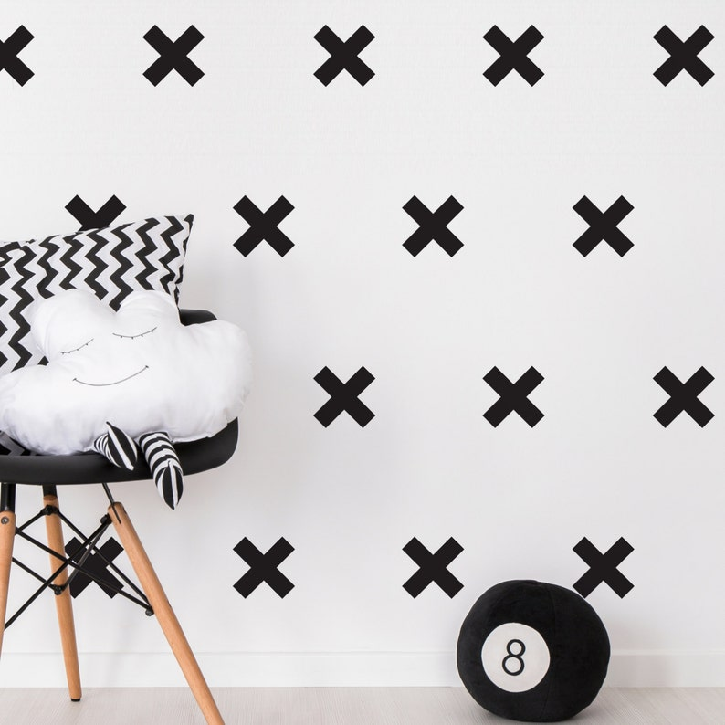 Wall Decals Crosses-Wall Decals-Wall Stickers-Window Stickers-Shapes-Crosses-Alternative to Wall Paper-Home Decor