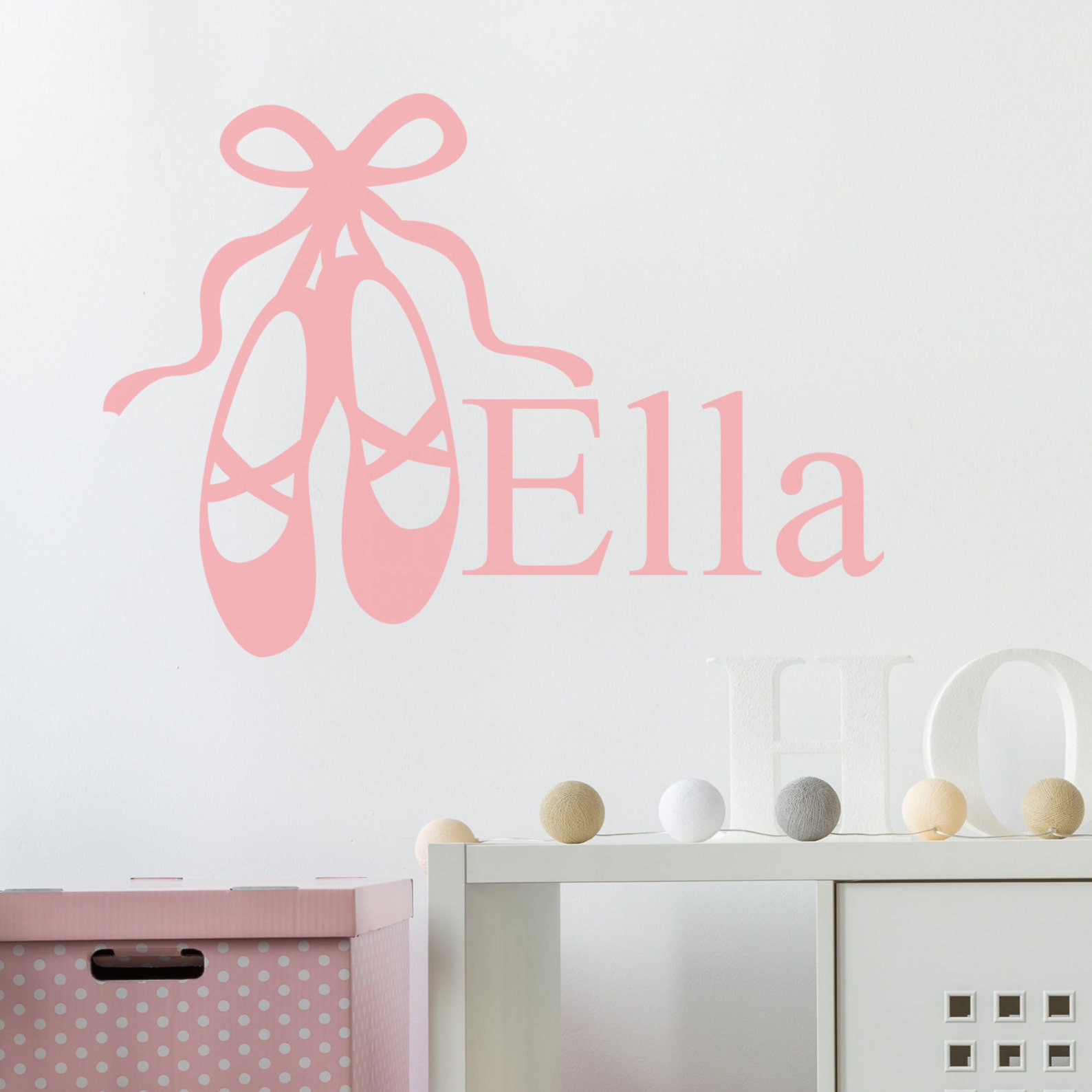 wall sticker personalised ballet shoes - decals - wall tattoo - wall art - wall quote - home decor - wall decor - wall decals -