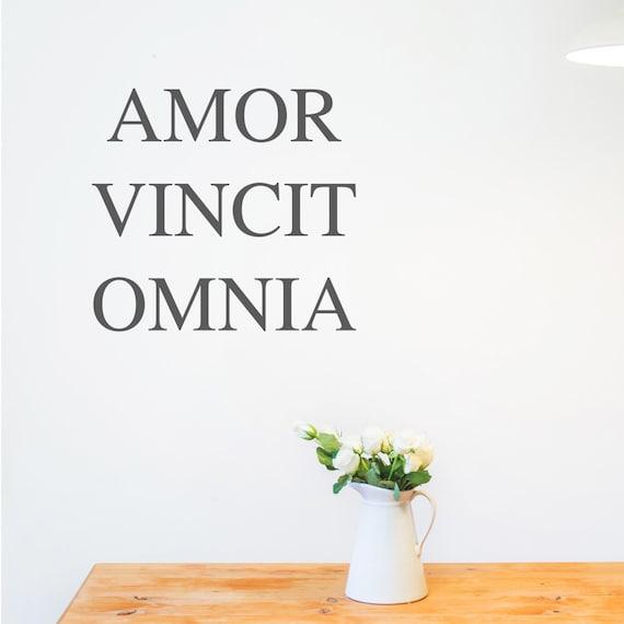 Lateinische Zitat Wandaufkleber Home Decor Decals Wandkunst