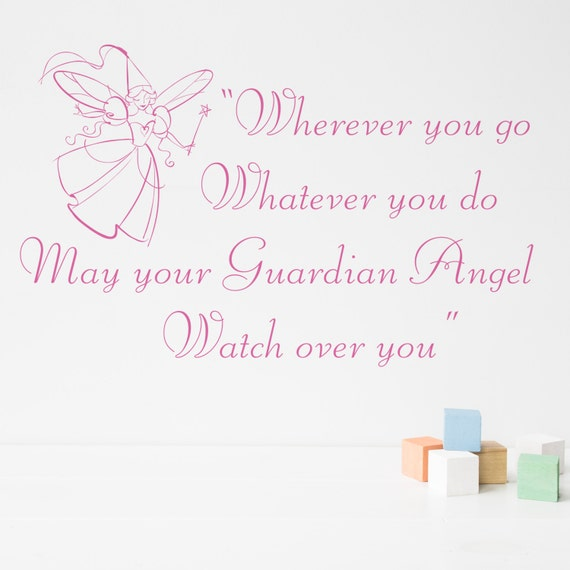 Wall Quote Guardian Angel - Decals - Wall Tattoo - Wall Art - Wall Quote -  Home Decor - Wall Decor - Wall Decals - Angel - Guardian - Quote