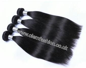 3 Bundles Brazilian Virgin Human Hair Extensions Grade 10A Straight - 300g