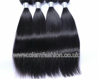 3 Bundle Peruvian Virgin Human Hair Extensions Grade 10A Straight - 300g