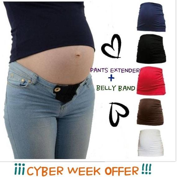 54872f9bb0dc Maternité du ventre ceinture taille rallonge maternité   Etsy