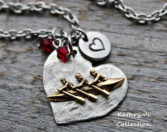Crew Necklace, Crew Jewelry, Crew Rowing, Rowing Team, Crew Coach, Rowing Necklace
