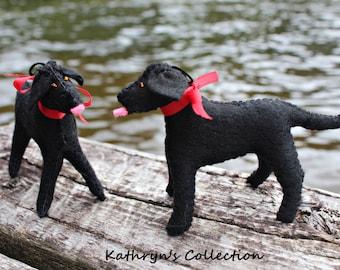 Black Lab hand-sewn felt ornament, Dog Keepsake, Dog Ornament, Personalized FREE, Black Lab Ornament, Black Lab Keepsake, Black Lab memorial