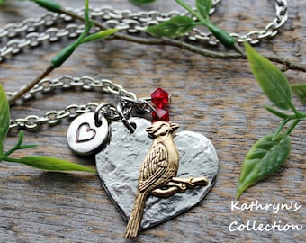 Cardinal Necklace, Cardinal Jewelry, Cardinal Gift, Bird Lover Gift, Birder, Bird Watching, When a Cardinal Appears, Read Full Item Details