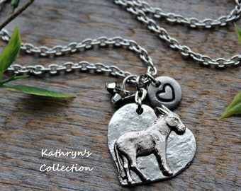 Donkey Necklace, Donkey Jewelry, Pet donkey, Burro, Burro Jewelry, Donkey Love, Pet Donkey, Mule Jewelry, Mule Necklace