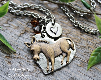 Donkey Necklace, Donkey Jewelry, Pet donkey
