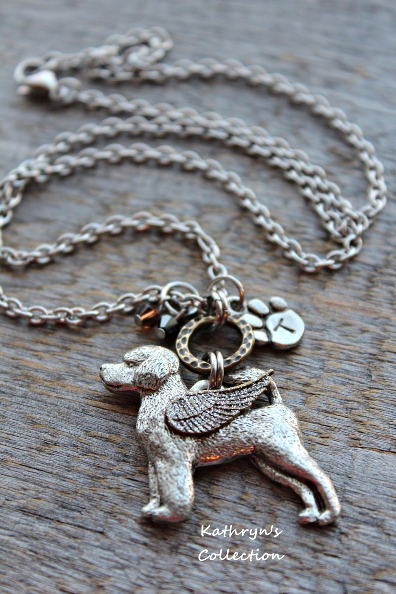 PWD Mom Portuguese Water Dog Angel Necklace Pet Memorial Jewelry Portuguese Water Dog Jewelry