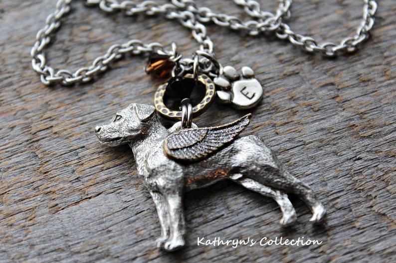 Rottweiler Mom Pet Memorial Jewelry Rottweiler Jewelry Rottweiler Memorial Necklace Rottweiler Angel