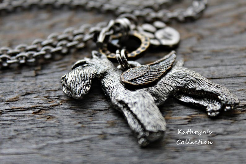 Schnauzer Mom Pet Memorial Jewelry Read Full Listing Details Cropped Pointy Ears Schnauzer Angel Schnauzer Memorial Necklace