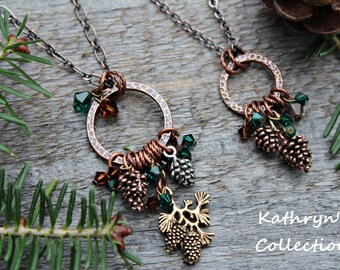 Pine Cone Necklace, Pine Cone Jewelry, Pinecone Necklace, Woodland Jewelry