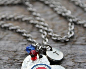Chicago Cubs Necklace, Cubs Jewelry, Cubs Fan, Love the Cubs, Baseball Jewelry