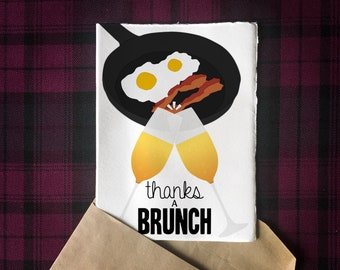 Printable Thanks a Brunch 5x7 Greeting Card | Digital Download
