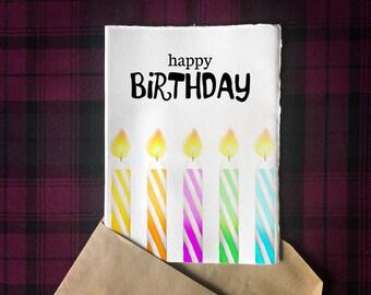 Printable Happy Birthday 5x7 Greeting Card   Digital Download