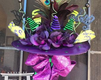 Purple and Lime Pizazz Doorhanger