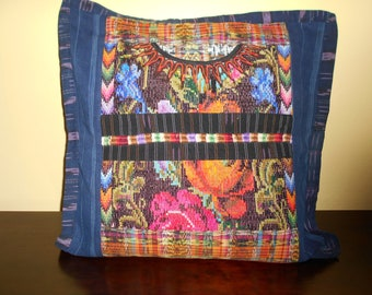 SC84 1 Guatemalan Huipil Pillow Cover from Chichicastenango, Quiché