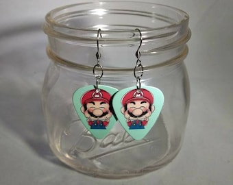 Mario Guitar Pick Earrings