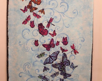 AFLUTTER by Elizabeth Isles for Studio E  Butterflies Sold by the Panel